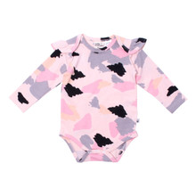 Milk & Masuki Long Sleeve Bodysuit with Ruffle - Colourdrift