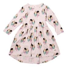Milk & Masuki Long Sleeve Dress - Lovebirds Meterage