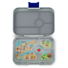 Yumbox Tapas - Flat Iron Grey 4 Compartment
