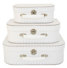 Alimrose Suitcase Set - White