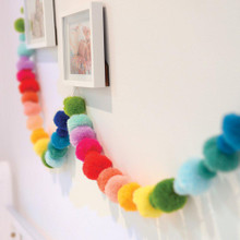 O.B. Designs Pom Pom Garland - Rainbow