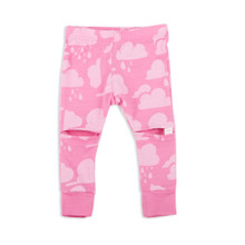 Little Flock of Horrors - Slasher Leggings - Chateau Pink Clouds (LAST ONE LEFT - SIZE 0-3M)