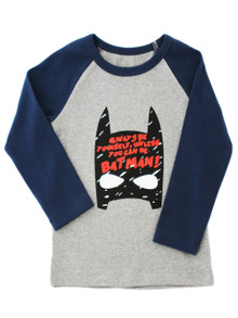 Curious Wonderland Simply Batman Longsleeve Tee - Navy (LAST ONE LEFT - SIZE 1 YEAR)