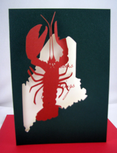 Maine Lobster Christmas card