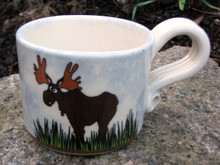 Whimsical Moose mug