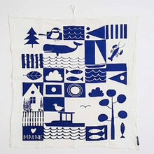 """Maine"" flour sack towel"