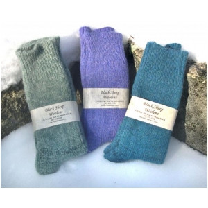Keep those tootsies warm with our 100% Maine wool socks