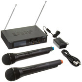 Audio2000's AW6026 VHF Dual-Channel Handheld Wireless Microphones