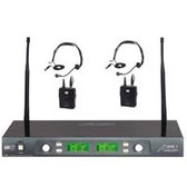 Audio2000'S® AWM6547DU UHF Wireless Microphone System with Headsets