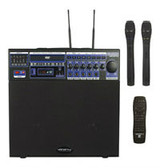 VocoPro DVD-SOUNDMAN Portable Mini PA System with built-in VHF Wireless Microphone Module, includes remote control