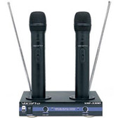 VocoPro VHF-3300 2 Channel VHF Recharchable Wireless Microphone System