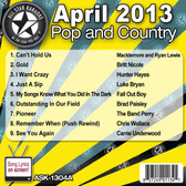 ASK-1304A JULY 2013 POP AND COUNTRY