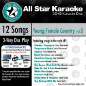 Karaoke: Young Female Country 3  (ASK-1562)