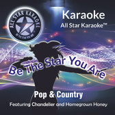 """Mixed Pop & Country (ASK-1505), featuring """"Chandelier"""" in the style of Sia and """"Homegrown Honey"""" in the style of Darius Rucker  Track 1 Chandelier (in style of Sia)  Track 2 Like A Cowboy (in style Randy Houser)  Track 3 Be My Baby (in style of Ronnettes)  Track 4 Homegrown Honey (in the style Darius Rucker)  Track 5 BDrinking Class (in the style Lee Brice)  Track 6 Something To Believe (in style of Poison)  Track 7 Days Go By (in style of Keith Urban)  Track 8 Neon Light (in the style of Blake Shelton)"""