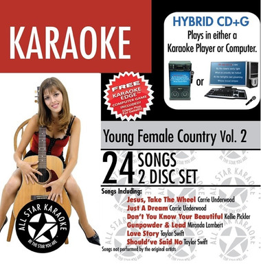 Young Country Female Artists by All Star Karaoke 2 Disc Set