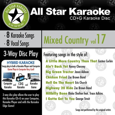 All Star Karaoke Mixed Country Vol. 17 (ASK-826) (ASK-826)