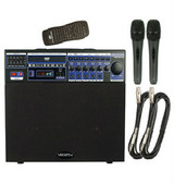 VocoPro DVD/CD - Soundman Basic Portable Mini Karaoke PA System with Two Corded Microphones