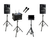 "Karaoke Warehouse: VocoPro JamCube Package -1, includes Vocopro Jamcube Karaoke Player, VocoPro PV-802 Powered Speakers with stands, 10"" monitor"