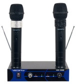 VHF-3308 Dual Channel Rechargeable Wireless Microphone System