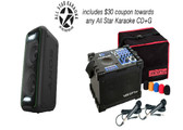 Jamcube MC Special Edition Package - Jamcube MC Karaoke Player, Sony Speaker with Bluetooth ability, 2 Microphones with Bonus Coupon for any All Star Custom Disk CD+G (valued at $30.00)
