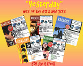 """Yesterday"" Some of The Greatest Hits of 60's and 70's  (5 CD's - 103 songs)"