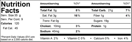 Xocolatl Chocolate Sauce Nutritional Facts