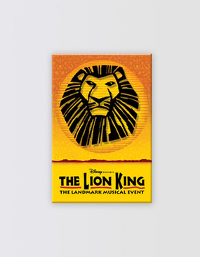 Lion King Lucite Magnet