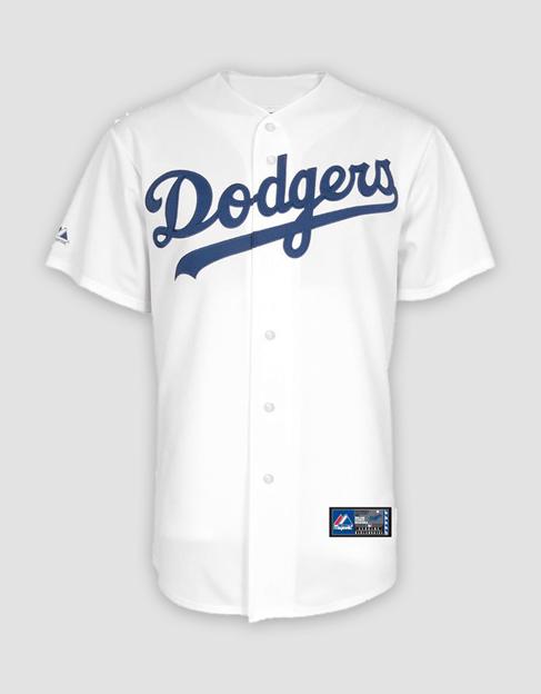 e2d9598fd MLB LA Dodgers Mens Replica Home Jersey. Your Price   40.00 (You save   85.00). Image 1