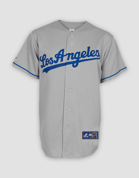 super popular ce840 0fd33 MLB LA Dodgers Mens Replica Road Jersey