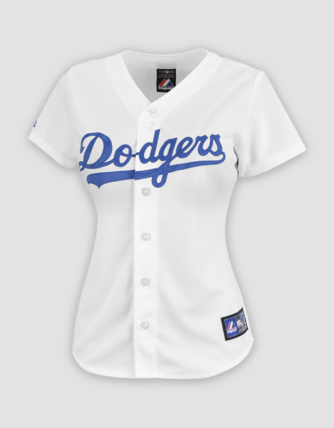 efaf37543 MLB LA Dodgers Ladies Replica Home Jersey. Your Price   40.00 (You save   60.00). Image 1