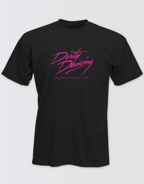 Dirty Dancing Unisex Black Glitter Logo Tee