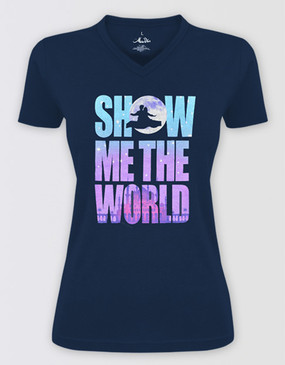Aladdin Fitted Show Me the World T-Shirt