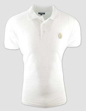 SCG Mens White Polo