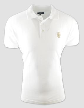 SCG Mens White Polo