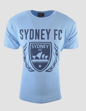 Sydney FC Adults Sky Blue Logo Tee