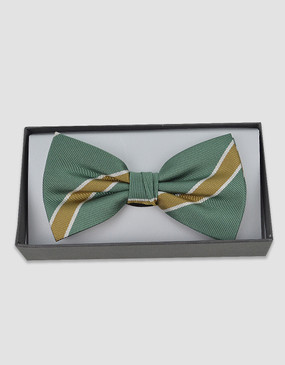 SCG Members Bow Tie - Green/Gold/White