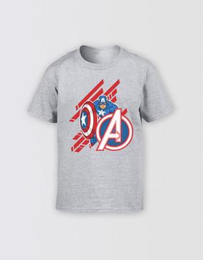 Marvel's Avengers - Kids Captain America Diagonal T-Shirt