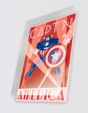Marvel's Avengers - Captain America Art Deco Magnet