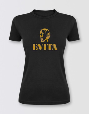 Evita Fitted Black T-Shirt