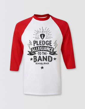 SCHOOL OF ROCK Kids 3/4 Sleeve Pledge Allegiance T-Shirt