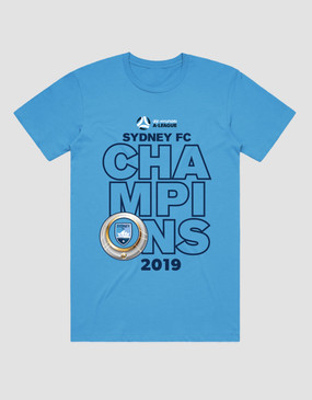Sydney FC 18/19 Adults Champions Tee