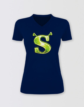 Shrek Glitter 'S' T-Shirt - Adults Fitted
