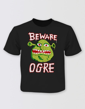 Shrek Freak Beware Ogre T-Shirt - Kids