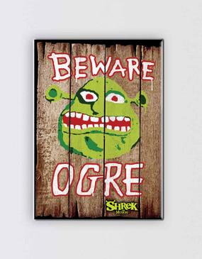 Shrek Magnet - Beware Ogre