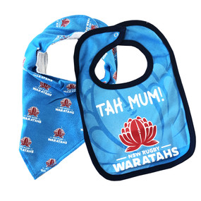 NSW Waratahs Babies 2 Piece Bib Set