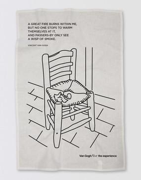 Van Gogh Tea Towel - Chair