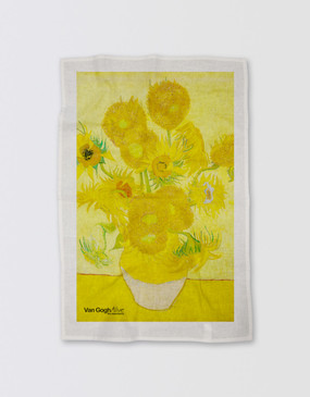 Van Gogh Tea Towel - Sunflowers (colour)