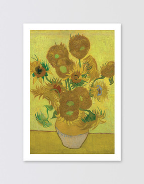 Van Gogh Postcard - Sunflowers