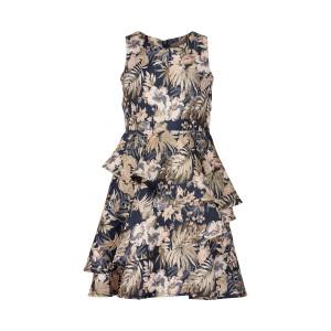 Creamie | Dress Leaf Print | 4y-14y | 821163-7850