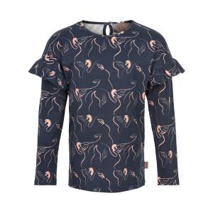 Creamie | T-Shirt Swan Print Ls | 4y-14y | 821245-7850